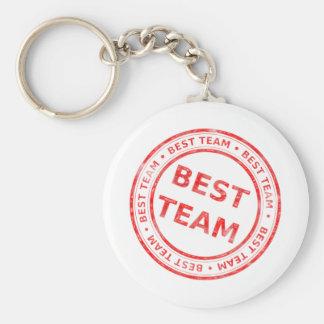 Best Team stamp - prize, first, champion,trophy Basic Round Button Keychain