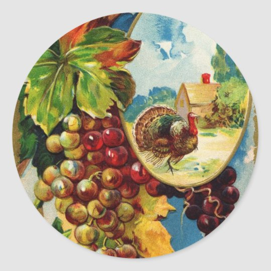 Best Thanksgiving Wishes Classic Round Sticker