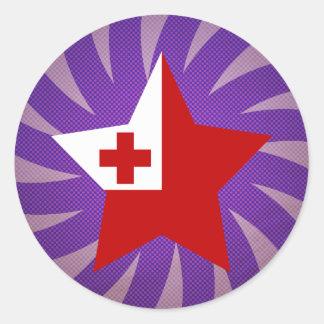 Best Tonga Flag Design Classic Round Sticker