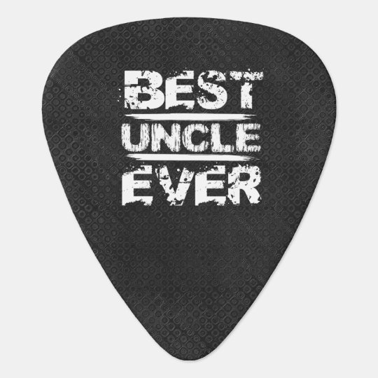 Best UNCLE Ever Grunge Style White and Black N811 Pick