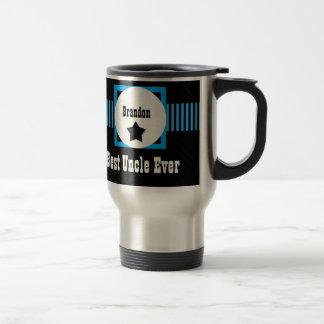 Best UNCLE Monogram Blue and Black Stripes V02 Travel Mug