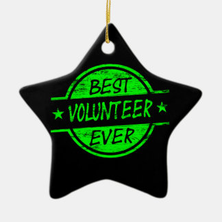 Best Volunteer Ever Green Ceramic Ornament