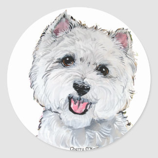 Best Westie! Classic Round Sticker