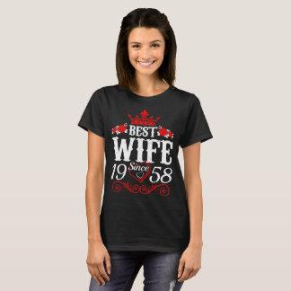 Best Wife Since 1958 Valentine Gift Tshirt