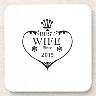 Best Wife Since 2015 2nd wedding anniversary gifts Coaster