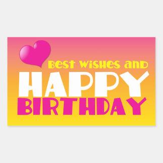 BEST wishes and HAPPY Birthday! cute! Sticker