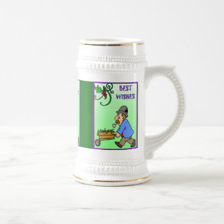 Best wishes, barrow full of grapes 18 oz beer stein
