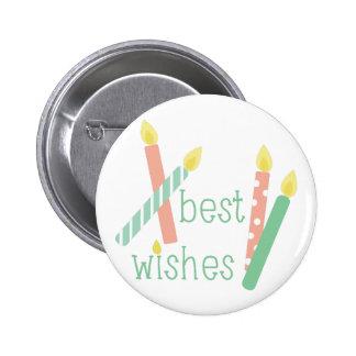 Best Wishes 2 Inch Round Button