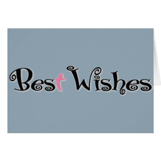 Best Wishes Christian Notecard