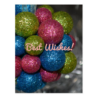 Best Wishes Christmas Decorations Postcard