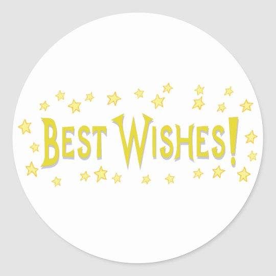 Best Wishes Classic Round Sticker