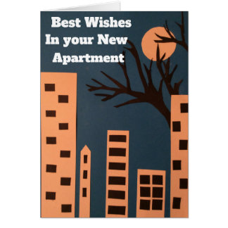 Best wishes in your new apartment card