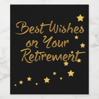 Best Wishes On Your Retirement Wine Label