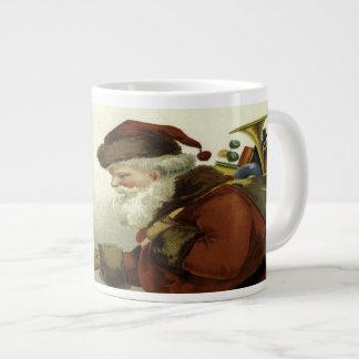 Best Wishes Vintage Santa Christmas Large Coffee Mug