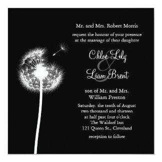Best Wishes! Wedding Invitation (black)
