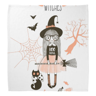 Best Witches Happy Halloween Bandana