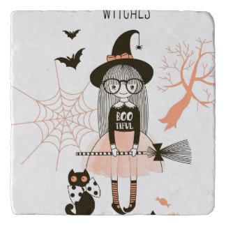 Best Witches Happy Halloween Trivet