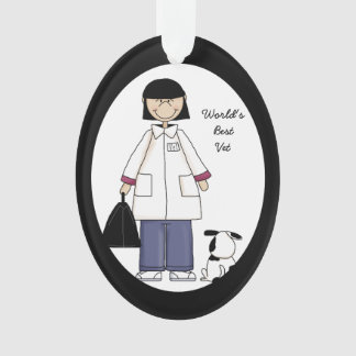 Best Woman Veterinarian Acrylic Ornament
