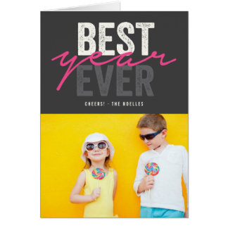 Best Year Ever Holiday Modern New Year Photo Card