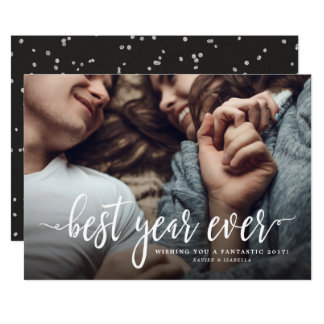 Best Year Ever New Year Holiday Photo Card