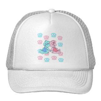Bestest Best pink blue skulls Trucker Hat