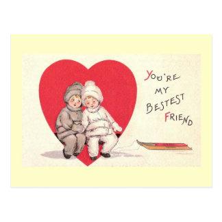 Bestest Friend Valetine's Postcard