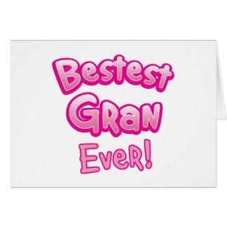 BESTEST gran EVER grandmother granny Card