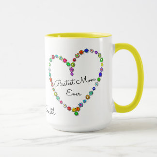 Bestest Mom Ever Personalized Name - Mug
