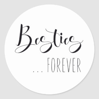 """Besties Forever"" Friend Classic Round Sticker"