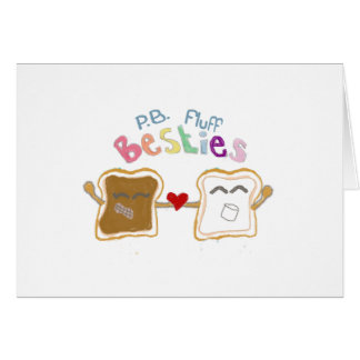 Besties peanut butter and fluff Note Card