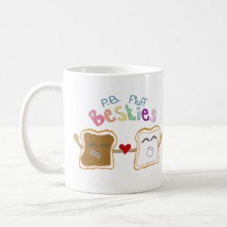 besties peanut butter fluff basic white mug
