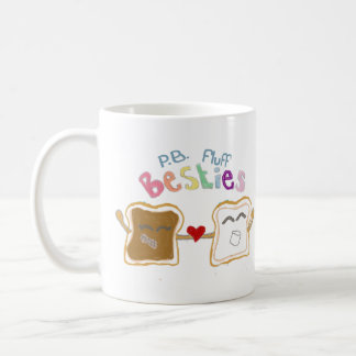 besties peanut butter fluff coffee mug