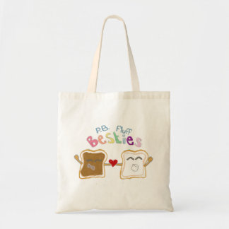 besties peanut butter fluff tote bag