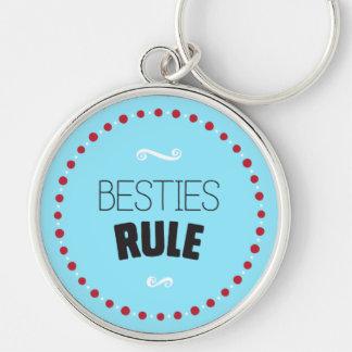 Besties Rule – Blue Keychain