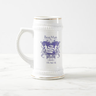 BestMan Wedding Stein  Vintage Lions 2 Heads