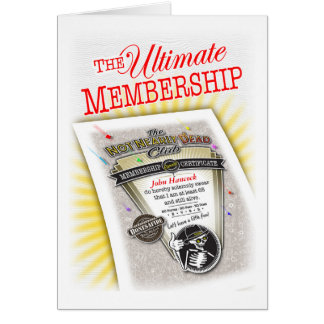 Bestselling Proof of Membership Greeting Card