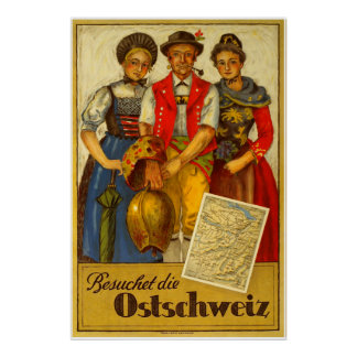 Besuchet die Ostschweiz, Vintage Travel Poster
