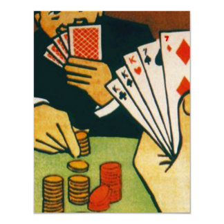 Bet Full House Playing Cards Game Party Invitation
