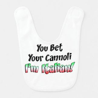 Bet Your Cannoli I'm Italian Bib