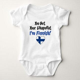 Bet Your Lihapullat I'm Finnish Baby Bodysuit