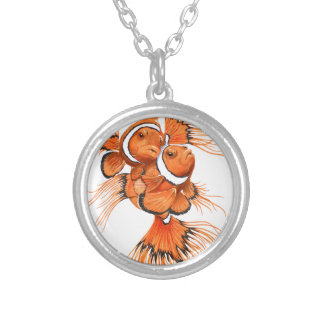 Beta Clown Silver Plated Necklace