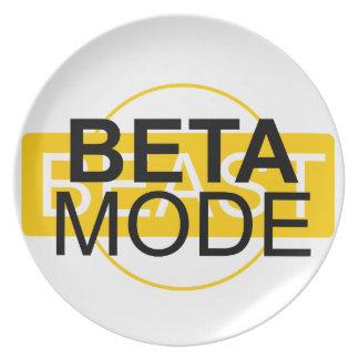 Beta mode plate