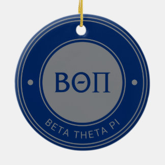Beta Theta Pi | Badge Ceramic Ornament