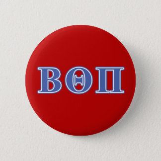 Beta Theta Pi Blue Letters 2 Inch Round Button