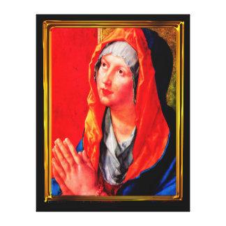 Betende Maria Canvas Print