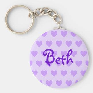 Beth in Purple Basic Round Button Keychain