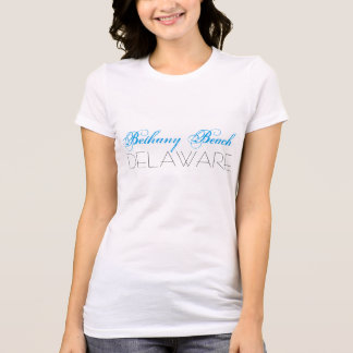 Bethany Beach Delaware Blue and Black custom T-Shirt