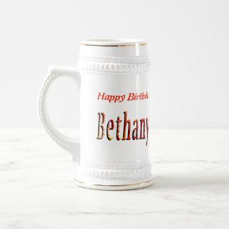 Bethany Girls Name Logo Beer Stein