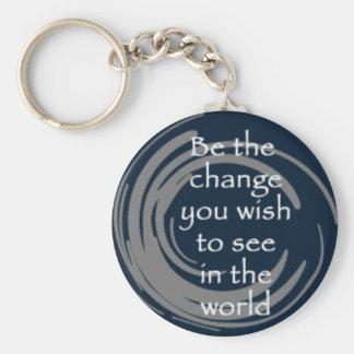 BeTheChange Basic Round Button Keychain