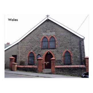 Bethel Methodist Chapel, Bargoed, South Wales. Postcard